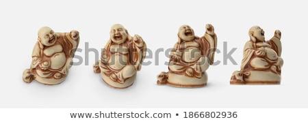 Kırmızı anlamaya bağbozumu heykel mutlu Stok fotoğraf © vadimmmus