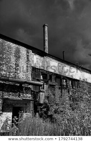 Tarihsel endüstriyel şehir görmek yukarı ev Stok fotoğraf © michey