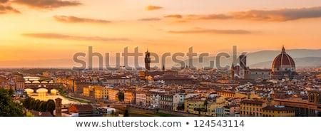 Toskana · panoramik · görmek · İtalya · harika · nokta - stok fotoğraf © angelp