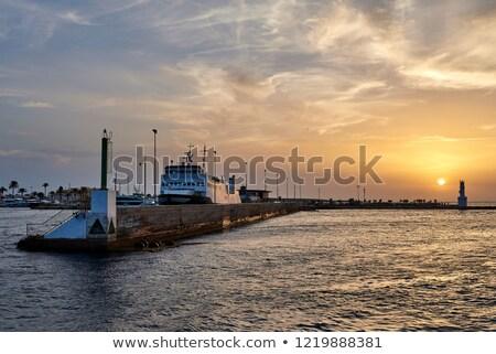 Balearic sunset from La Savina in Formentera Stock photo © lunamarina