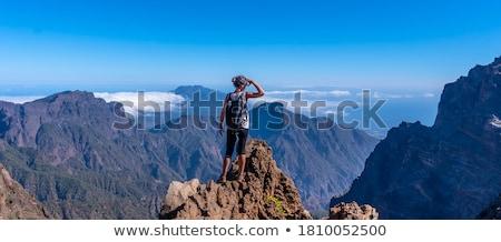 la · canário · ilha · terra · montanha · azul - foto stock © lunamarina