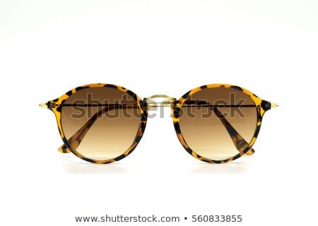 Barna napszemüveg izolált fehér sport fény Stock fotó © ozaiachin