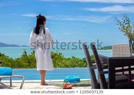 привлекательный пару пляж человека пейзаж морем Сток-фото © photography33