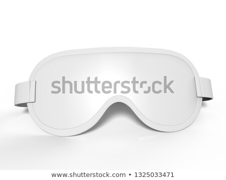 black satin sleep mask isolated stock photo © ozaiachin