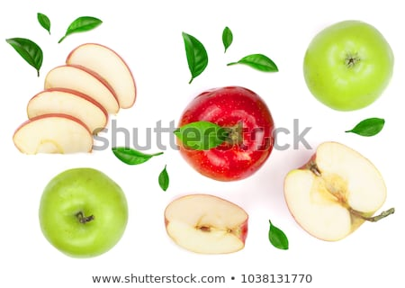Manzana frutas hojas aislado blanco hoja Foto stock © Masha