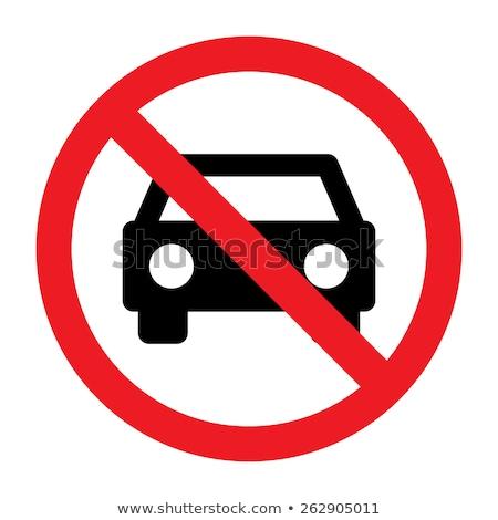 Não carros permitido assinar centro estrada Foto stock © michaklootwijk