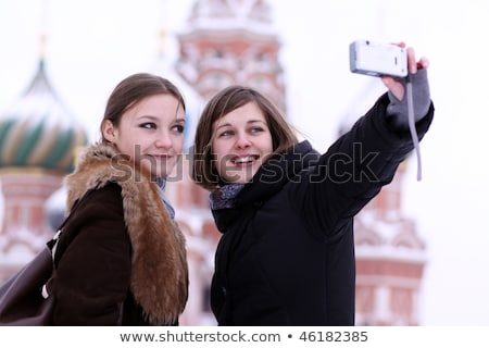 Two girls tourists are photographed in Moscow  Stock photo © Andersonrise