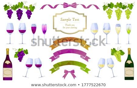 gözlük · şampanya · yalıtılmış · beyaz · şarap - stok fotoğraf © luckyraccoon