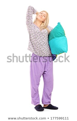 Fullbody Young Woman in Relaxed Pose Stock photo © rognar