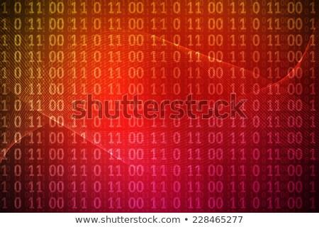 grunge red binary code background stock photo © thp