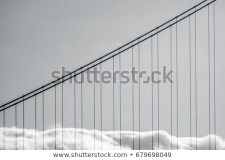 The detail of Golden Gate Bridge in the fog Stock photo © CaptureLight