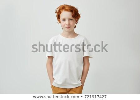 cute · brunette · portrait · jeunes · femme - photo stock © lithian