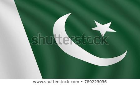 Hoog vlag Pakistan land asia Stockfoto © joggi2002