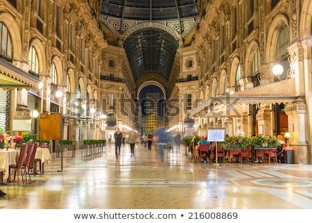 Glass Dome of Interior of Galleria Vittorio Emanuele II Shoping  Stock photo © anshar