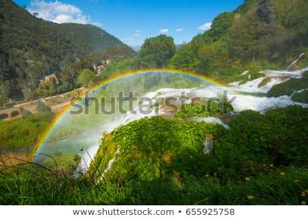 vízesések · szivárvány · fenséges · egy · hét · természetes - stock fotó © faabi