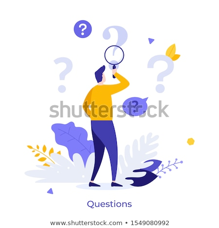 questions magnifying glass stock photo © burakowski