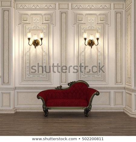 klasszikus · szék · ezüst · keret · antik · szoba - stock fotó © tungphoto