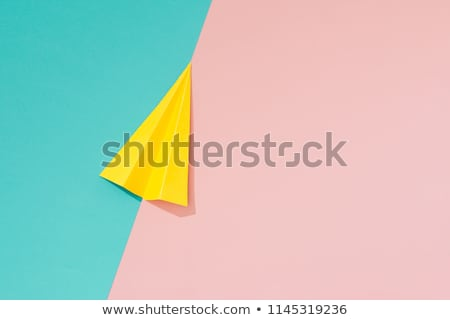 Abstract color background with paper air plane Stock photo © Elmiko