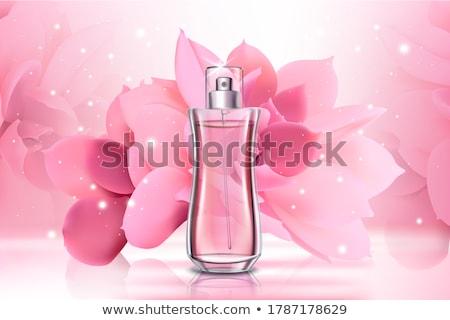 résumé · bouton · floral · design · fond · amis - photo stock © derocz