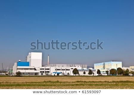 Gebouwen industrie park mooie landschap Frankfurt Stockfoto © meinzahn