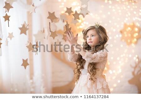 美しい · ブロンド · 少女 · 装飾 · 浅い · 女性 - ストックフォト © nejron