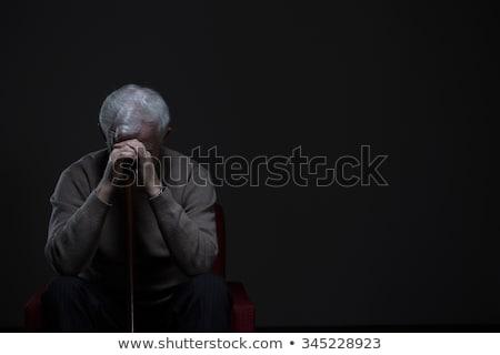 homem · suicídio · isolado · branco · retrato - foto stock © ichiosea