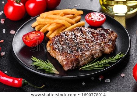 beefsteak and fries Stock photo © M-studio