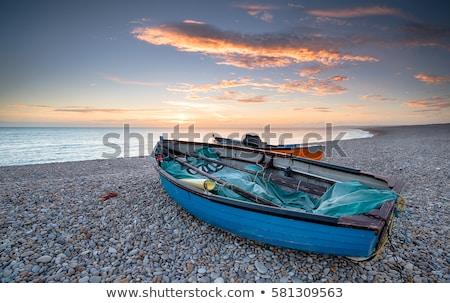 Chesil Cove at sunset Stock photo © ollietaylorphotograp