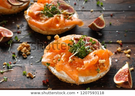 appetizer, smoked salmon and fresh fig Stock photo © M-studio