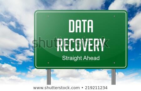 Veri karayolu tabelasını yol teknoloji Stok fotoğraf © tashatuvango