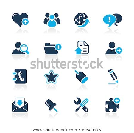 Icône de téléchargement puzzle eps 10 forme choix Photo stock © Istanbul2009