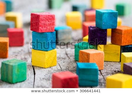 блоки текстуры фон игрушку Сток-фото © dezign56