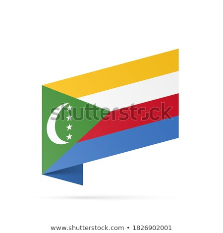 Map on flag button of Union of the Comoros Stock photo © Istanbul2009