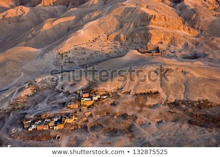 Mısır dağlar görmek Mısır güneş Stok fotoğraf © smartin69
