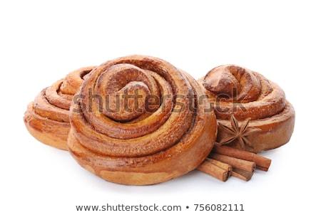 tasty cinnamon buns Stock photo © Klinker