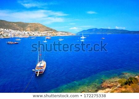 marynarz · marina · portu · łodzi · człowiek · niebieski - zdjęcia stock © magraphics