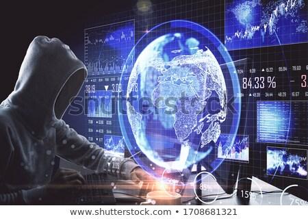 computador · clássico · detalhado · computador · portátil · bicho · lupa - foto stock © cteconsulting