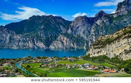 alpes · Italie · ville · vallée · hiver · ciel - photo stock © master1305