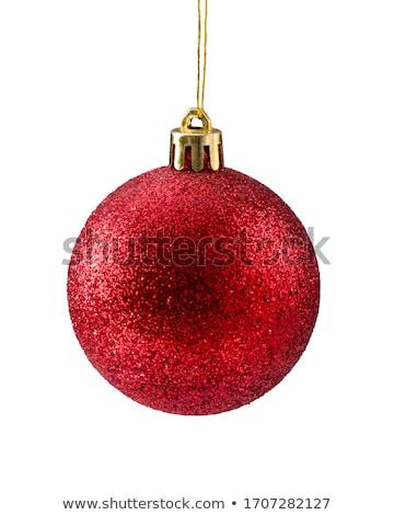 Рождества красный зеленый филиала ель Сток-фото © ElaK