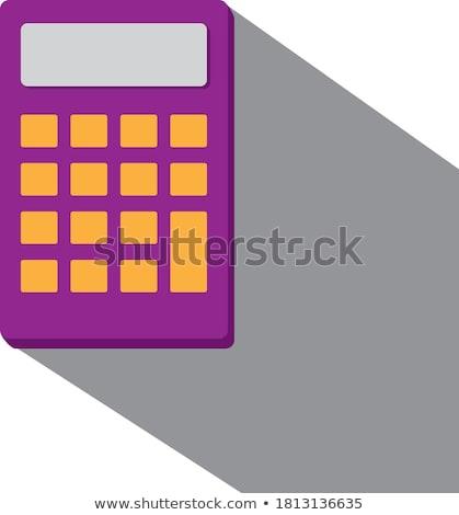 Kantoorwerk vierkante vector violet icon ontwerp Stockfoto © rizwanali3d