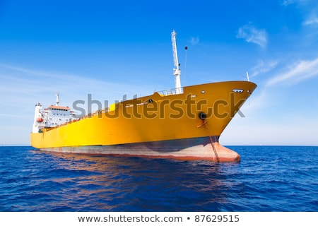 Freighter ship vessel at ocean coast Stock photo © roboriginal