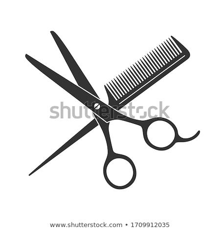 Comb and scissors Stock photo © fuzzbones0