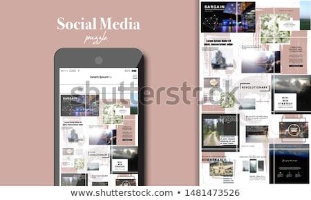 Social media puzzle Stock photo © fuzzbones0
