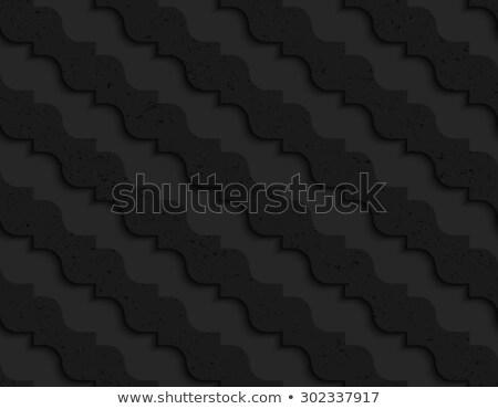 Noir plastique diagonal vagues résumé Photo stock © Zebra-Finch