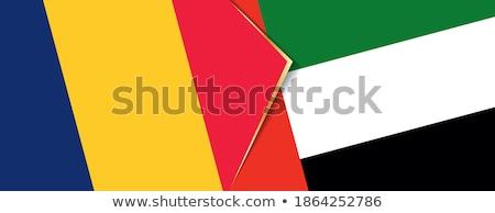 Объединенные Арабские Эмираты Чад флагами головоломки изолированный белый Сток-фото © Istanbul2009