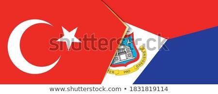 Törökország zászlók puzzle izolált fehér üzlet Stock fotó © Istanbul2009