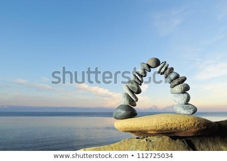arch from pebble on seacoast Stock photo © Paha_L