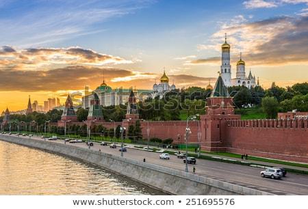 モスクワ クレムリン 壁 背景 レンガ 塔 ストックフォト © Paha_L
