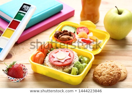 Stock photo: watercolors box on table