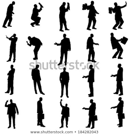 businessman silhouette in saluting Stock photo © Istanbul2009